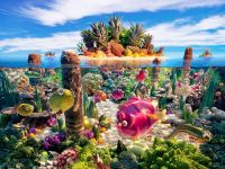 Собирать пазл Вкусный остров онлайн