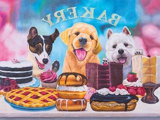 Собирать пазл Десерт для собак  онлайн