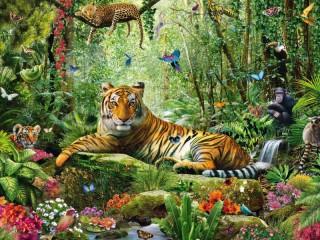Собирать пазл Властелин джунглей онлайн