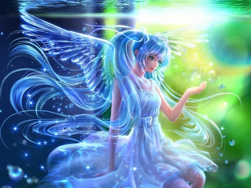 Пазл Собирать пазлы онлайн - Водный ангел