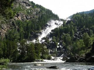 Собирать пазл Водопад Учар онлайн