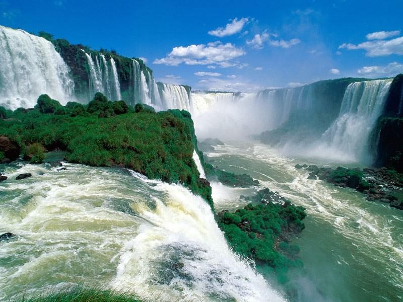 Пазл Собирать пазлы онлайн - Водопады