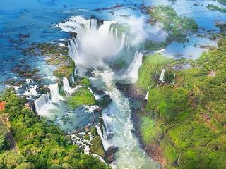 Собирать пазл Водопады в Аргентине онлайн