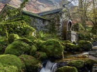 Собирать пазл Водяная мельница онлайн
