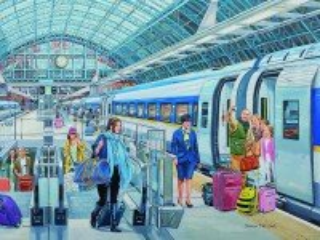 Собирать пазл Вокзал онлайн