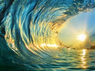 Собирать пазл Волна и солнце онлайн