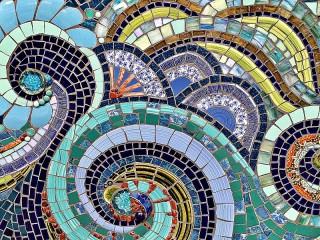 Собирать пазл Волны мозаики онлайн