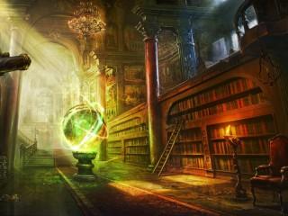 Собирать пазл Волшебная библиотека онлайн