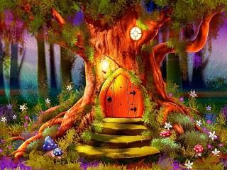 Собирать пазл Волшебная дверь онлайн