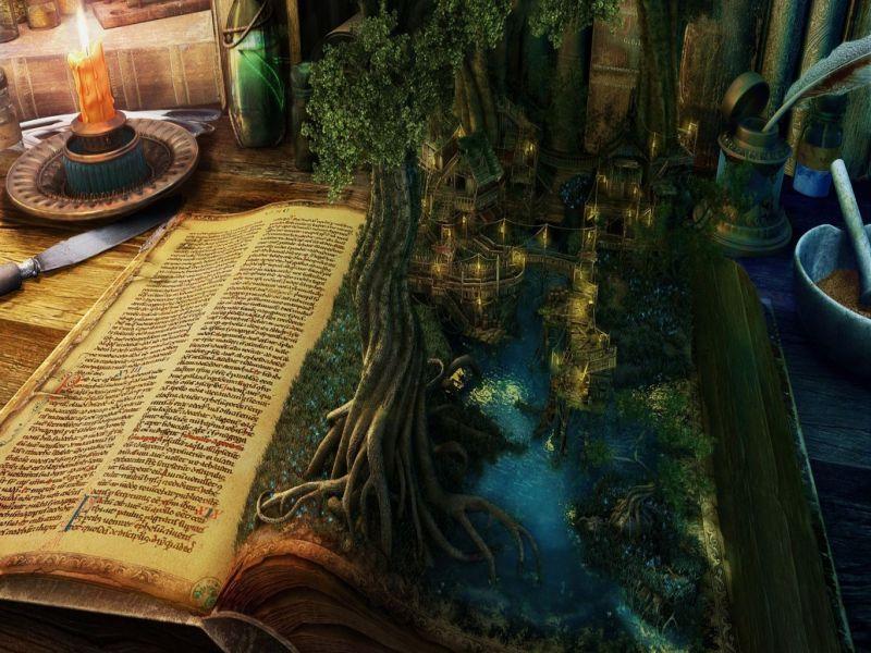 Пазл Собирать пазлы онлайн - Волшебная книга