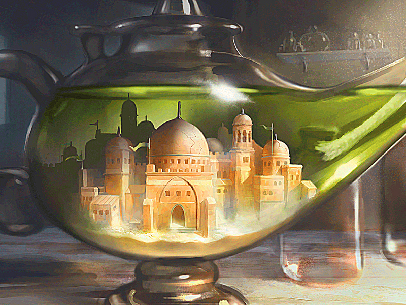 Пазл Собирать пазлы онлайн - Волшебная лампа