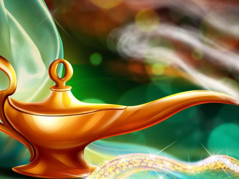 Пазл Собирать пазлы онлайн - Волшебная лампа 2