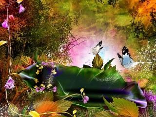 Собирать пазл Волшебные бабочки онлайн