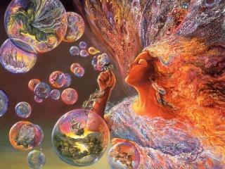 Собирать пазл Волшебные пузыри онлайн