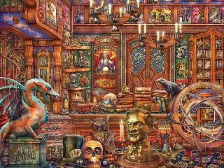 Собирать пазл Волшебный магазин онлайн