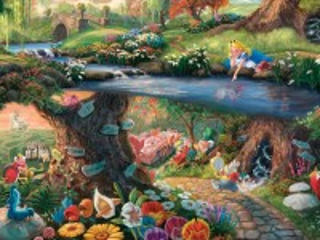 Собирать пазл Волшебный мир Алисы онлайн
