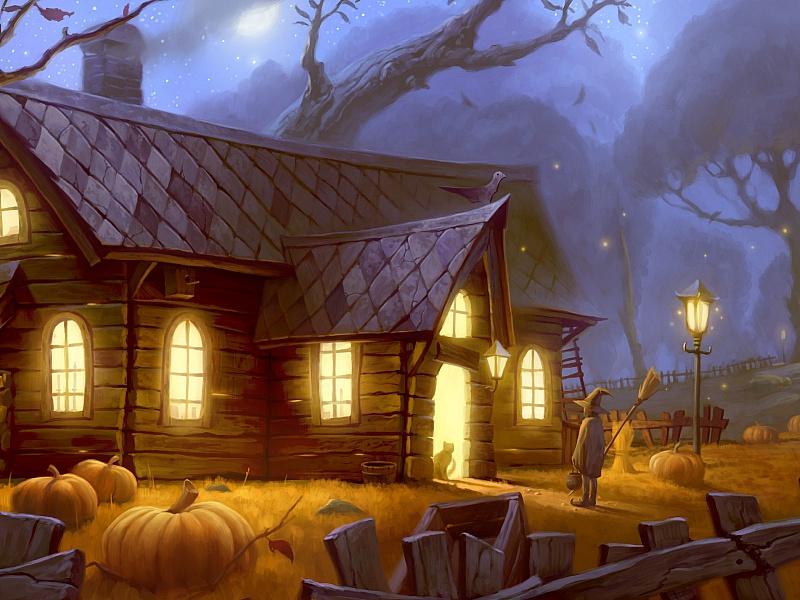 Пазл Собирать пазлы онлайн - Волшебный дом