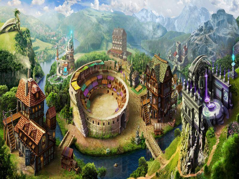 Пазл Собирать пазлы онлайн - Волшебный город