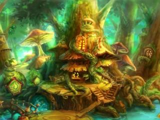 Собирать пазл Волшебный город онлайн