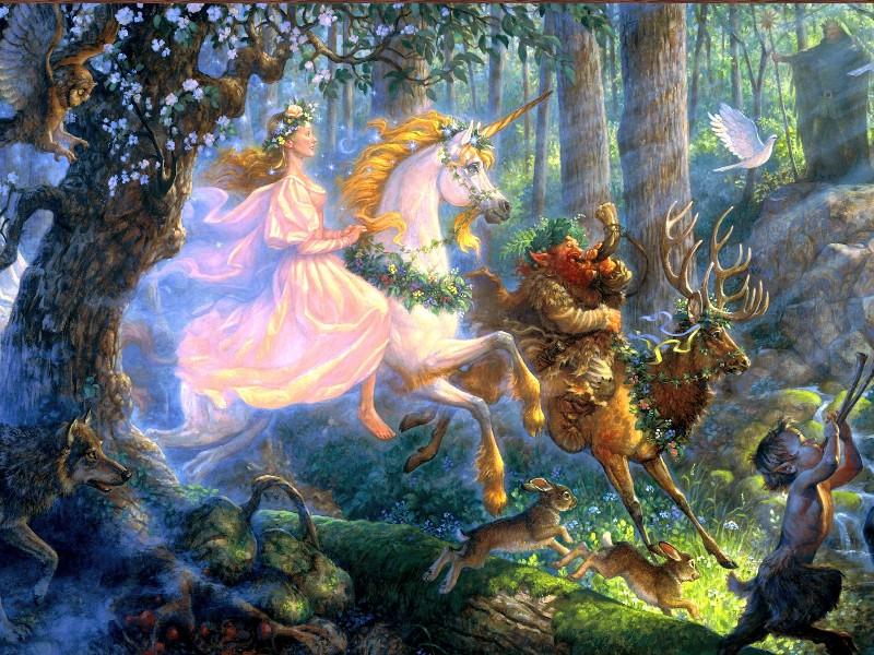 Пазл Собирать пазлы онлайн - Волшебный лес