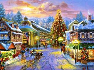 Собирать пазл Волшебное Рождество онлайн