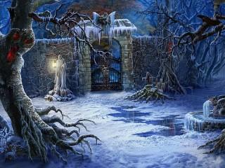 Собирать пазл Ворота кладбища онлайн
