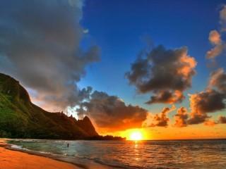 Собирать пазл Восход океан онлайн