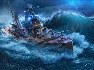 Собирать пазл Воюет со штормом онлайн