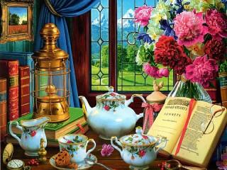 Собирать пазл Время чая онлайн