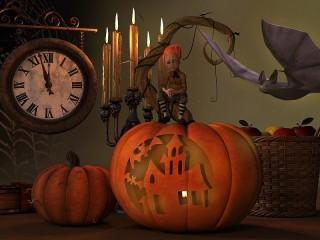 Собирать пазл Время Хэллоуина онлайн