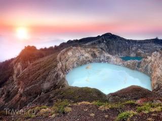 Собирать пазл Вулканическое озеро онлайн