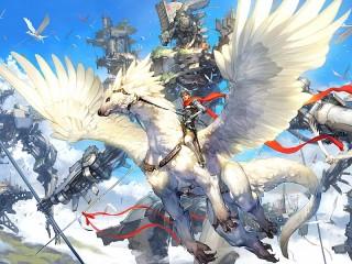 Собирать пазл Белый дракон онлайн