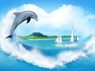 Собирать пазл Я люблю море онлайн