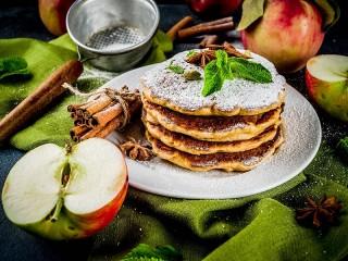 Собирать пазл Яблочные оладьи онлайн
