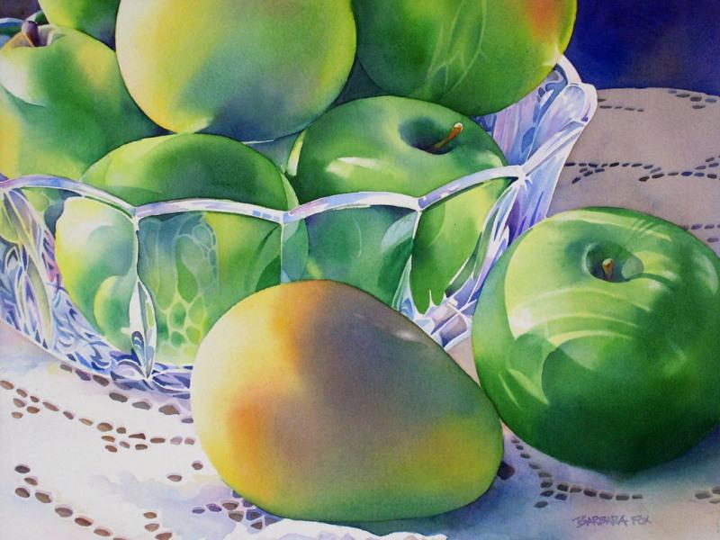Пазл Собирать пазлы онлайн - Яблоки и манго