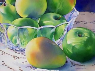 Собирать пазл Яблоки и манго онлайн