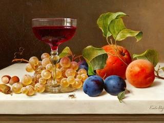 Собирать пазл Ягоды и вино онлайн