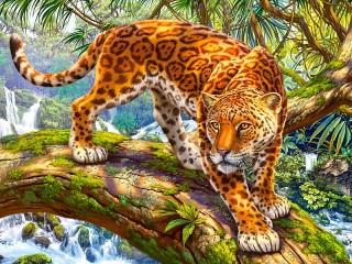 Собирать пазл Ягуар онлайн