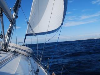 Собирать пазл Яхта в океане онлайн