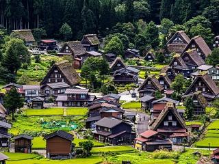 Собирать пазл Японская деревня онлайн