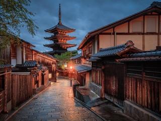 Собирать пазл Японская улочка онлайн