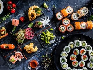 Собирать пазл Японские блюда онлайн
