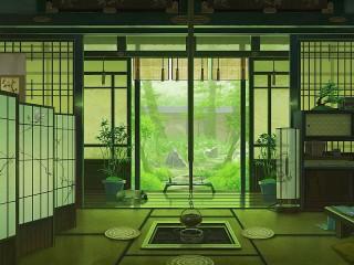 Собирать пазл Японский интерьер онлайн