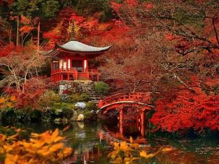 Собирать пазл Японский сад онлайн