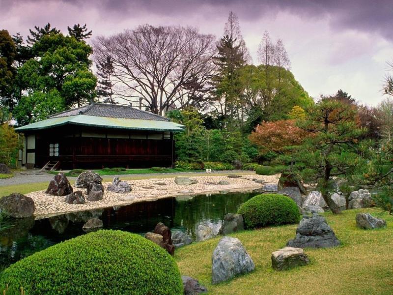 Пазл Собирать пазлы онлайн - Японский сад