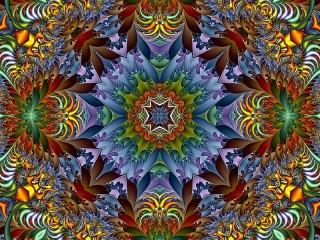 Собирать пазл Яркая абстракция онлайн