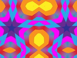 Собирать пазл Яркая симметрия онлайн