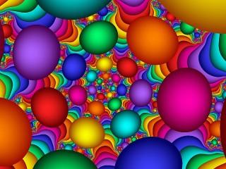 Собирать пазл Яркие шары онлайн