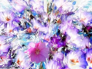 Собирать пазл Яркие цветы онлайн
