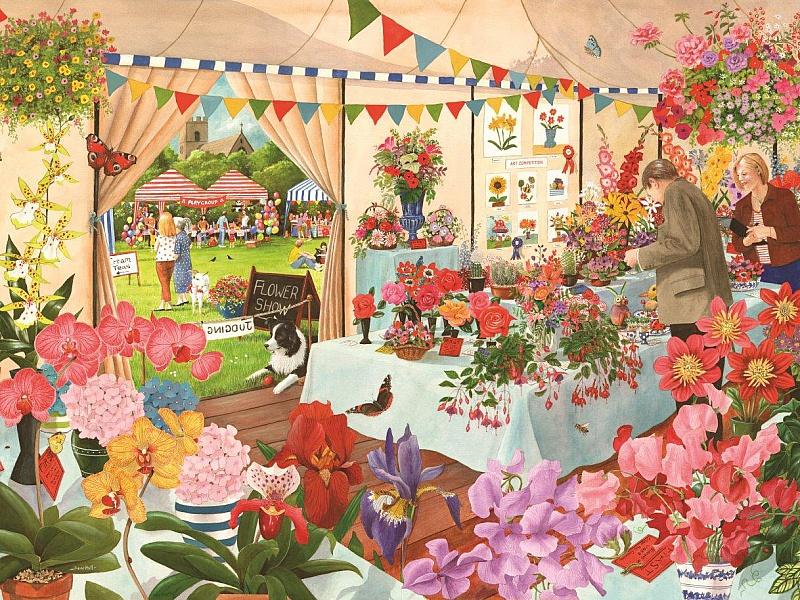 Пазл Собирать пазлы онлайн - Ярмарка цветов